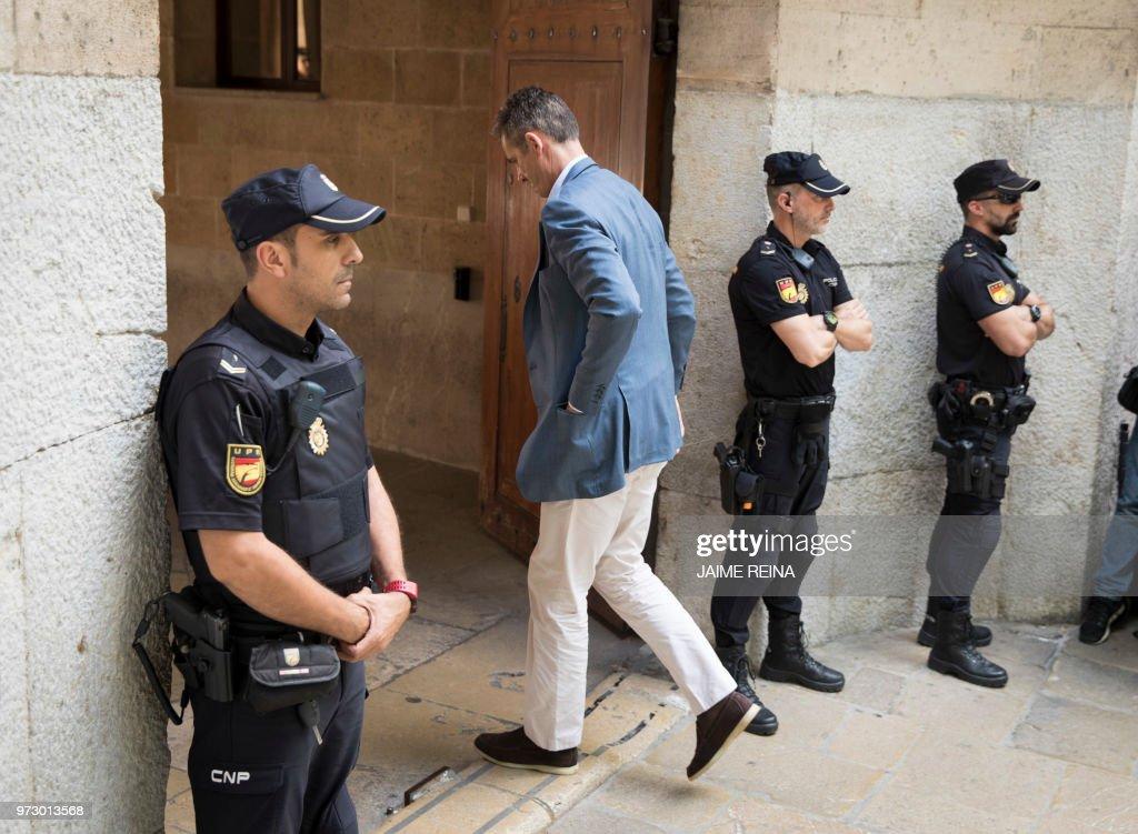 Inaki Urdangarin Attends Court In Palma de Mallorca