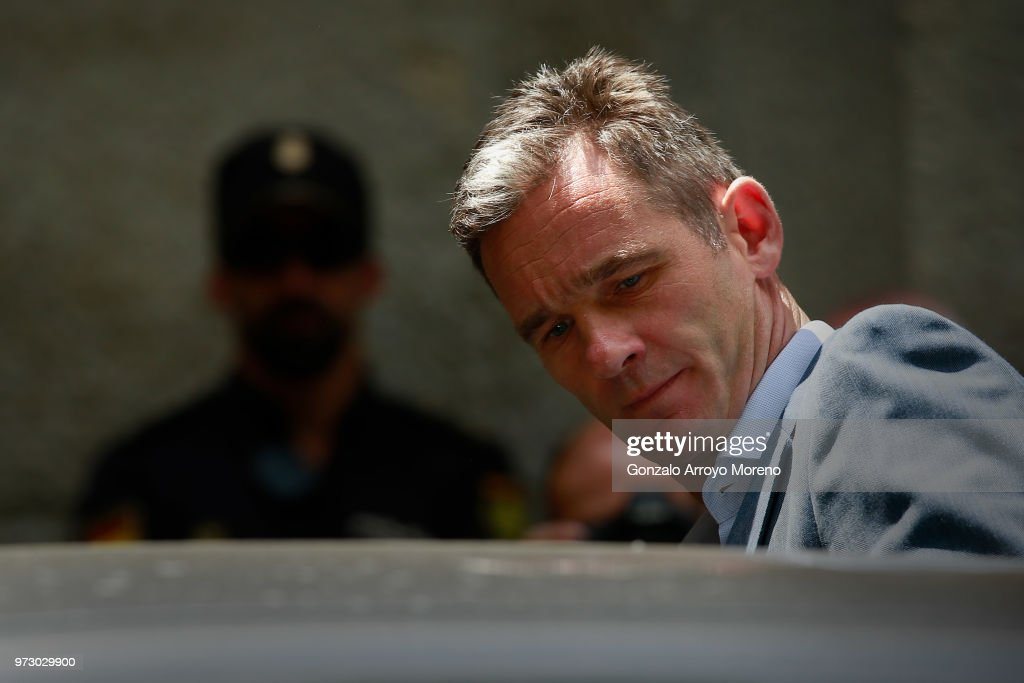 Former Olympic handball player and husband of Spain's Princess Cristina, Inaki Urdangarin leaves the courthouse on June 13, 2018 in Palma de Mallorca, Spain. The Spanish Supreme court has ratified on Tuesday the imprisonment of the king's brother-in-law to five years and ten months for perversion of justice, misappropriation and tax fraud of millions. (Photo by Gonzalo Arroyo Moreno/Getty Images).