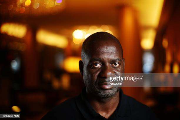 Former Olympic sprinter Ben Johnson poses during a photo shoot at the Sofitel Wentworth Hotel on September 11 2013 in Sydney Australia