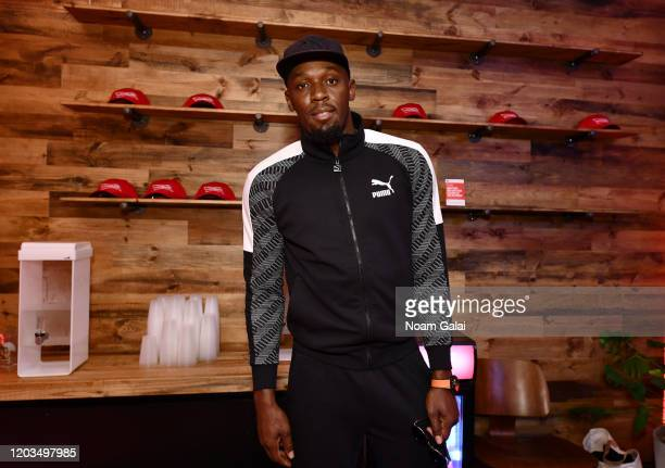 Former Olympic sprinter Usain Bolt attends Night Two of BUDX Miami by Budweiser on February 01 2020 in Miami Beach Florida
