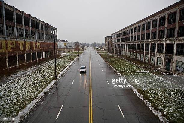 Former Packard Automobile factory The decadeslong decline of the US automobile industry is acutely reflected in the urban decay of Detroit the city...