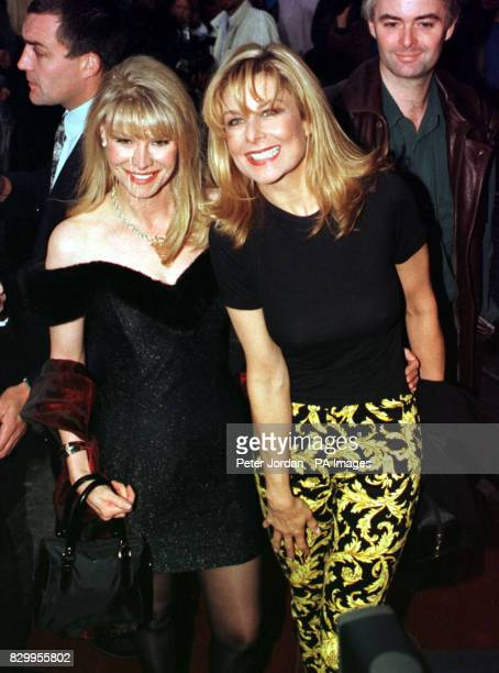 Former Page 3 girl Jilly Johnson and Cindy Jackson attend the 8th birthday party for Bill Wyman's 'Sticky Fingers' restaurant in Kensington London