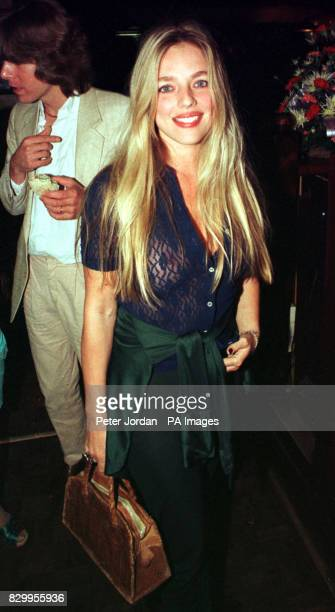 Former Page 3 girl Suzanne Mizzi attends an 8th birthday party for Bill Wyman's Sticky Fingers restaurant in Kensington London
