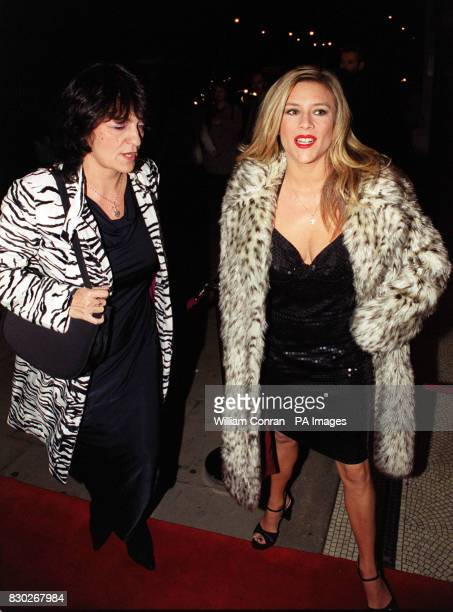 Former page 3 model and singer Samantha Fox arriving at the Blitz Ball at the Park Home Hotel London