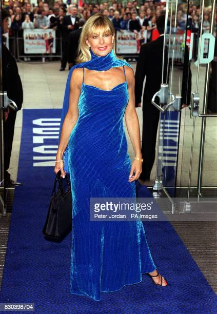 Former Page 3 model Jilly Johnson arrives for the premiere of the film 'Maybe Baby' at the Odeon cinema Leicester Square London