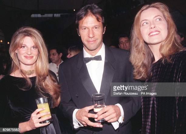 Former Pakistan cricket captain Imran Khan with his wife Jemima host a celebrity benefit for the UK opening tonight of 'Emma' an adaptation of the...