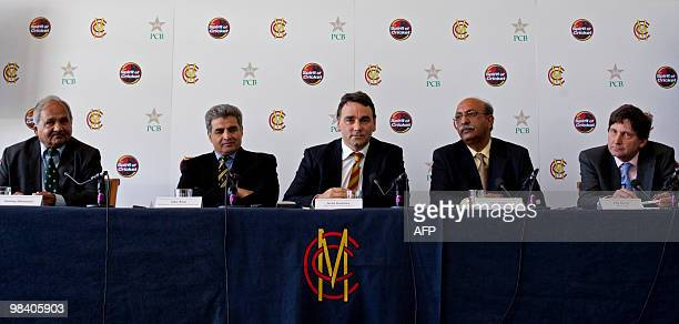 Former Pakistan cricket player Mushtaq Mohammad Zakir Khan Director of cricket operations for the Pakistan Cricket Board Keith Bradshaw Chief...