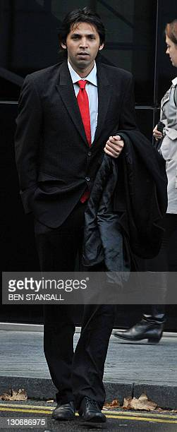 Former Pakistan cricketer Mohammad Asif arrives at Southwark Crown Court in London on October 28 2011 Deliberations by the jury continued Friday in...