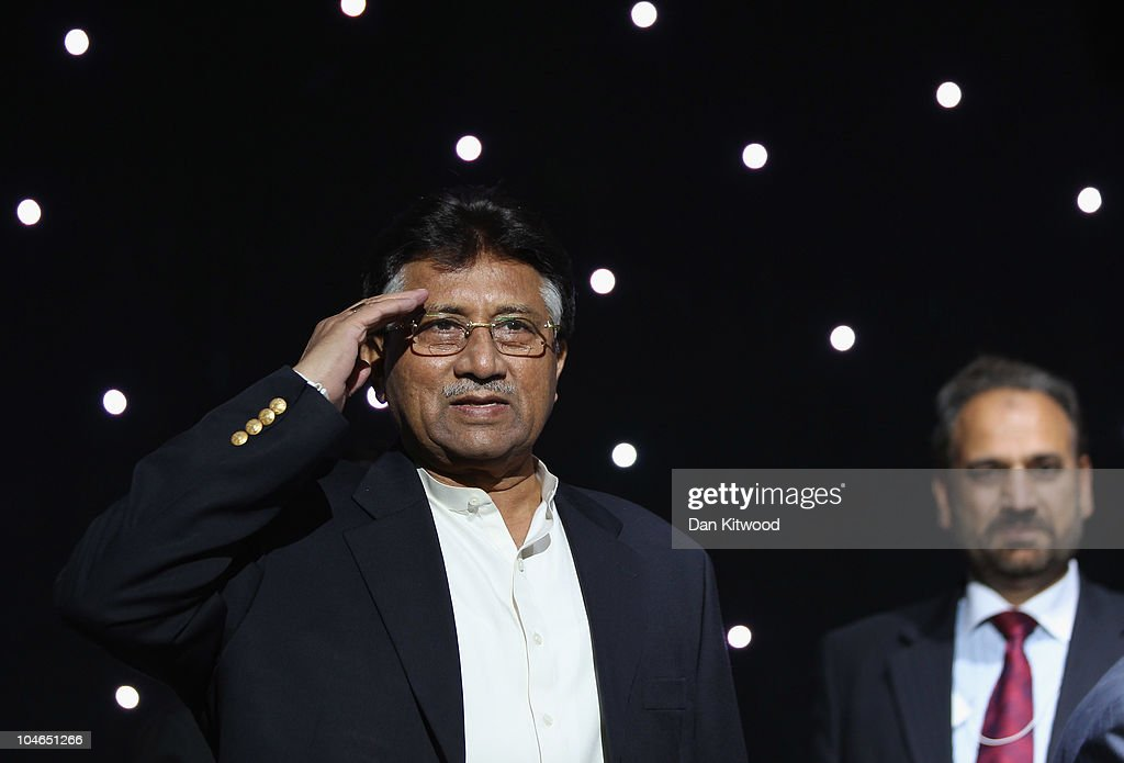 Former Pakistan President Pervez Musharraf Addresses Members Of UK Pakistani Community