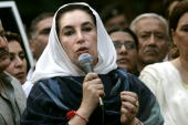 Former pakistani prime minister benazir bhutto speaks to media after picture id77825294?s=170x170