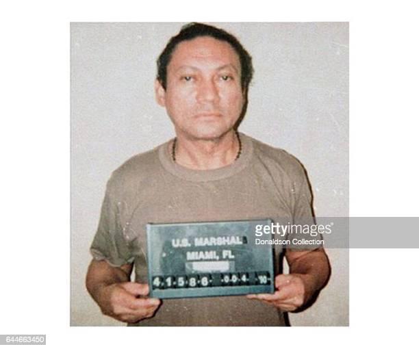 Former Panamanian dictator Manuel Noriega mugshot in 1990