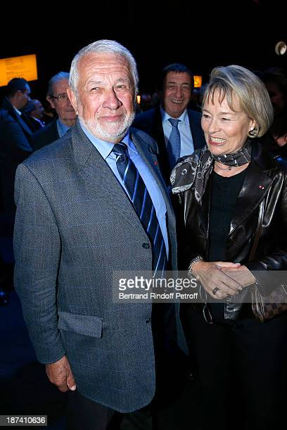 Former Paris Police chiefs Robert Broussard and Martine Monteil attend the 100th Anniversary Of The Paris Judiciary Police exhibition opening on...