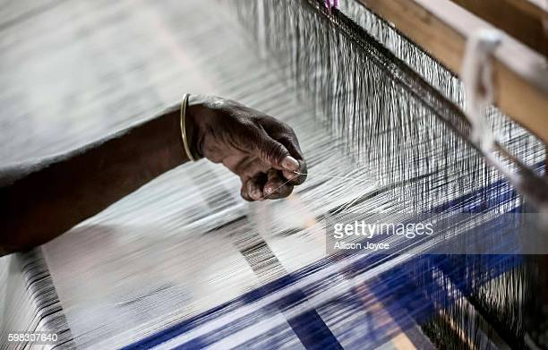 A former patient makes saris for nuns at Gandhiji Prem Nevas Leprosy Centre run by the Missionaries of Charity August 31 2016 in Kolkata India The...