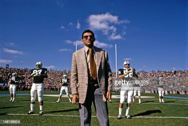 Former Penn State coach Joe Paterno is photographed at Penn State in 1973 at State College Pennsylvania