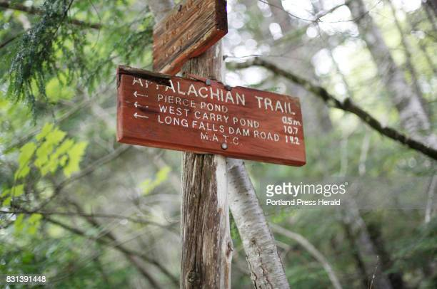 Former Penobscot Chief Barry Dana hikes with his wife Lori along a section of the Appalachian Trail on Sunday August 6 2017 Dana plans to hike the...