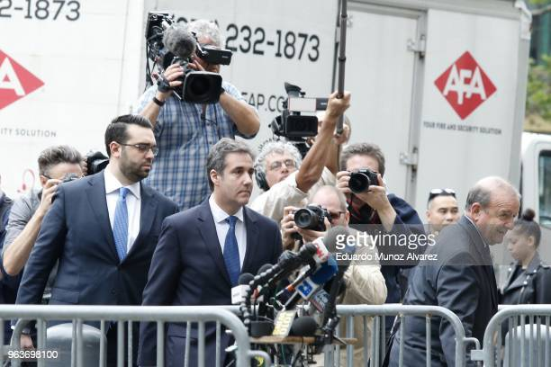 Former personal lawyer and confidante for President Donald Trump Michael Cohen arrives at the United States District Court Southern District of New...
