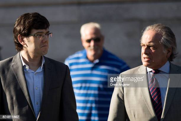 Former pharmaceutical executive Martin Shkreli and attorney Benjamin Brafman arrive at the US District Court for the Eastern District of New York...