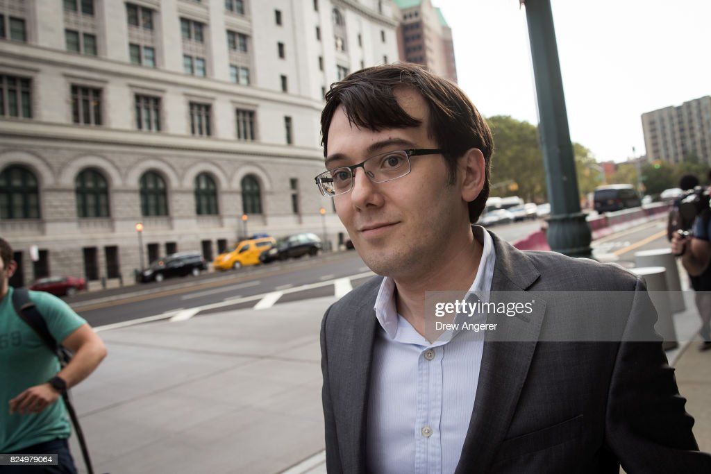 Former pharmaceutical executive Martin Shkreli departs the U.S. District Court for the Eastern District of New York , July 31, 2017 in the Brooklyn borough of New York City. After hearing closing arguments on Friday, jurors began deliberations on Monday morning.