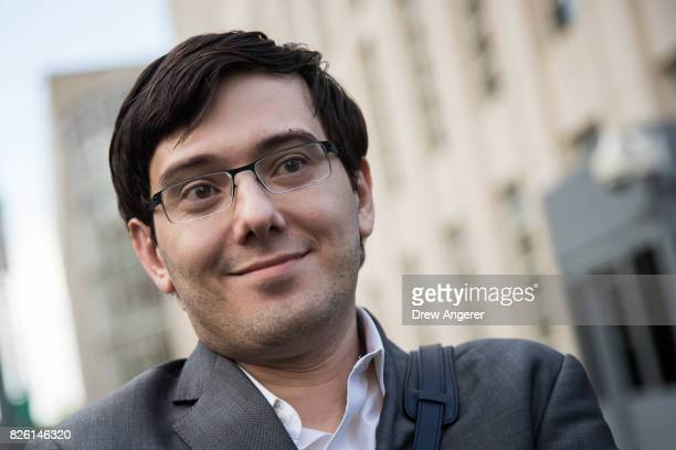 Former pharmaceutical executive Martin Shkreli departs the US District Court for the Eastern District of New York August 3 2017 in the Brooklyn...