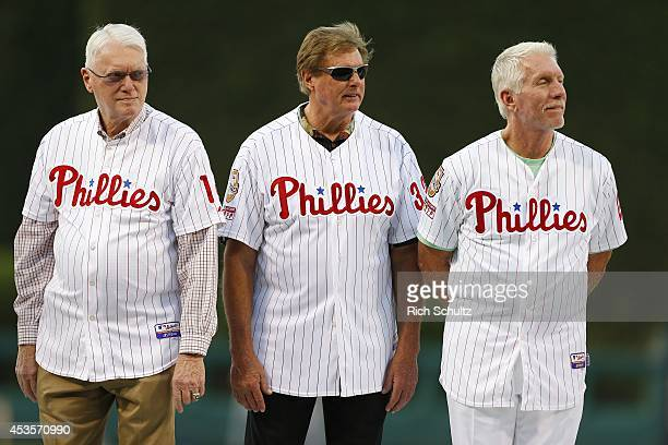 Former Philadelphia Phillies greats Jim Bunning Steve Carlton and Mike Schmidt were among many on hand to honor former manager Charlie Manuel who was...