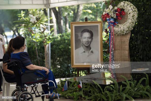 Former Philippine first lady and now congresswoman Imelda Marcos visits the tomb of former Philippine president and late dictator Ferdinand Marcos on...