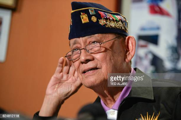 """Former Philippine president Fidel Ramos listens to a question during a press conference at his office in Manila on November 21, 2016. """"It was an..."""