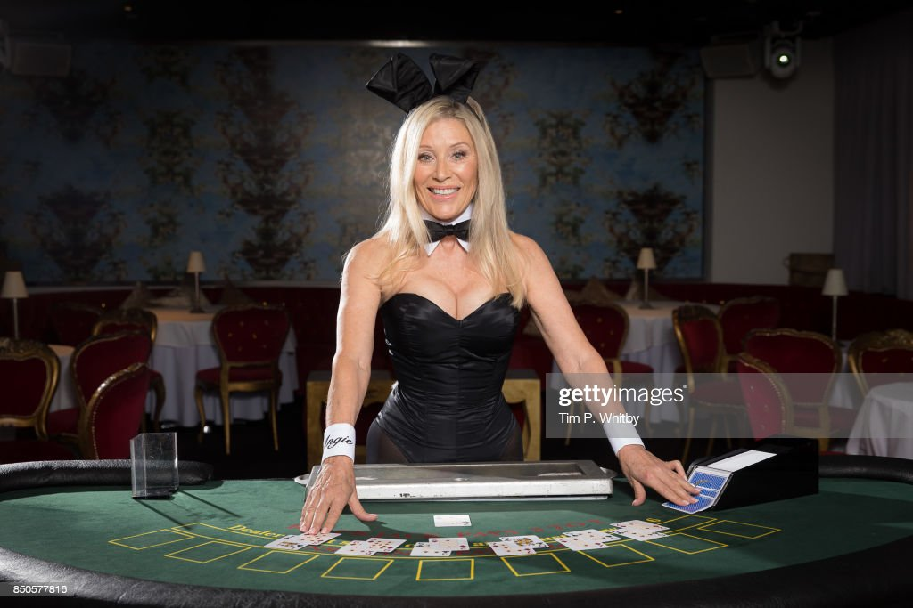 Former Playboy Bunny Angie Best poses for photos ahead of her return as the iconic Bunny Mother exclusively at the Telling Tales event at Playboy Club London on September 21, 2017 in London, England.