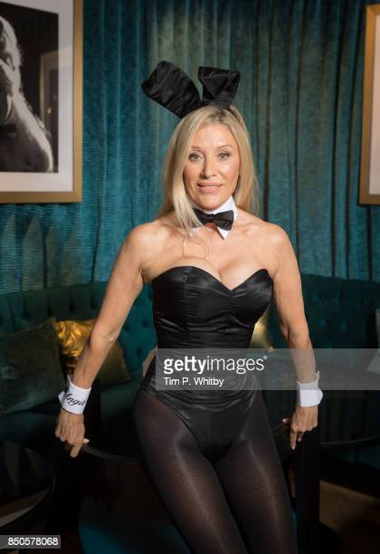 Former Playboy Bunny Angie Best poses for photos ahead of her return as the iconic Bunny Mother exclusively at the Telling Tales event at Playboy...