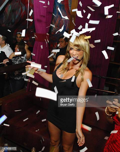 Former Playboy model Sara Underwood appears at the Tabu Ultra Lounge at the MGM Grand Hotel/Casino on June 29 2012 in Las Vegas Nevada