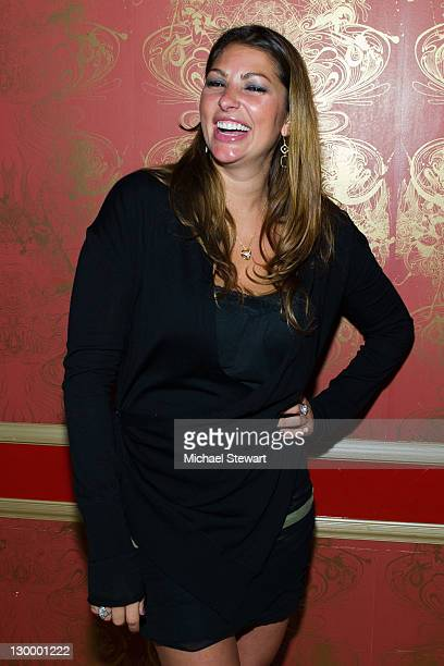 Former Playboy Playmate Amber Campisi attends Lindsey Vuolo's 30th birthday celebration at the Hurricane Club on October 22 2011 in New York City