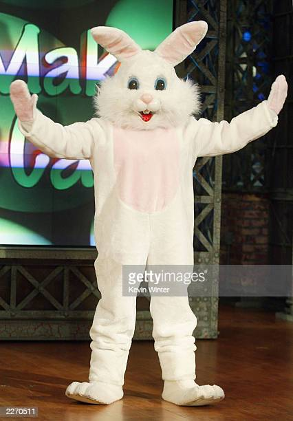 Former Playboy Playmate Anna Nicole Smith makes a surprise guest appearance as the Easter Bunny on The Tonight Show with Jay Leno at the NBC Studios...
