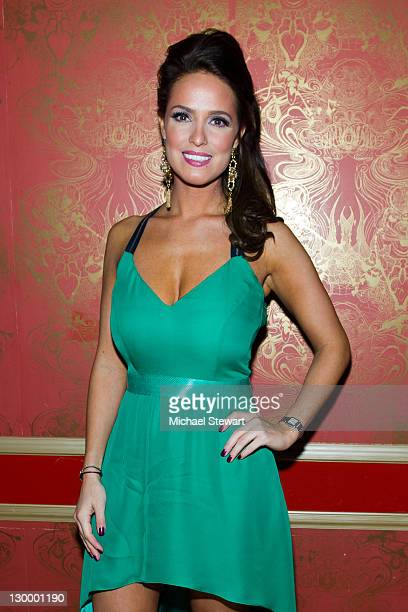Former Playboy Playmate Lindsey Vuolo attends her 30th birthday celebration at the Hurricane Club on October 22 2011 in New York City