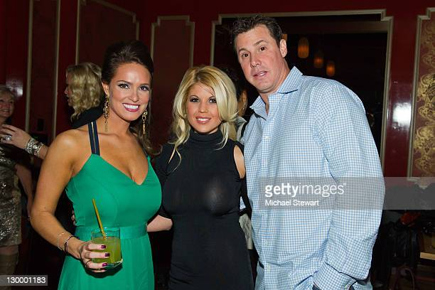 Former Playboy Playmate Lindsey Vuolo Playboy Cyber Girl Erica Lee Chevillar and former MLB player Tanyon Sturtze attend Lindsey Vuolo's 30th...