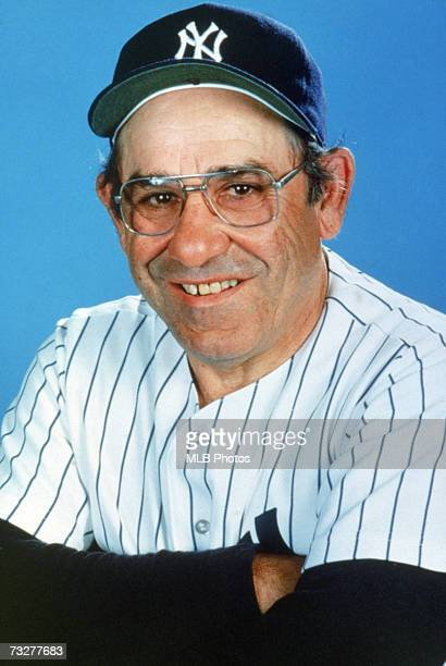 Former player and manager Yogi Berra of the New York Yankee poses for a photo circa Yogi managed the Yankees in 1964 and again in 19841985