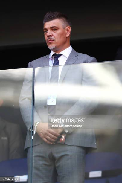 Former player and Serbian FA vice president Savo Milosevic looks on during the 2018 FIFA World Cup Russia group E match between Costa Rica and Serbia...