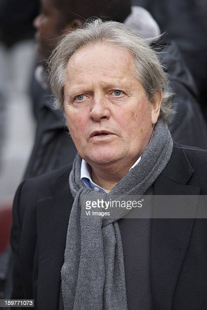 former player Arie Haan of Ajax during the Dutch Eredivise match between Ajax Amsterdam and Feyenoord at the Amsterdam Arena on January 20 2013 in...