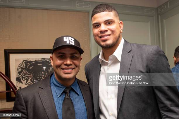 Former Player Carlos Beltran And Dellin Betances Of The New