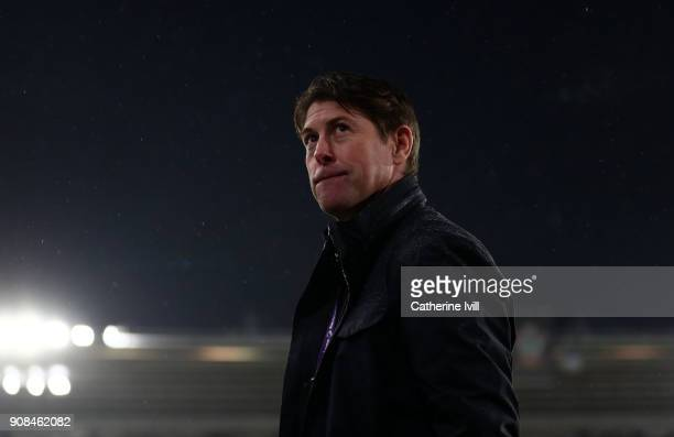 Former player Darren Anderton during the Premier League match between Southampton and Tottenham Hotspur at St Mary's Stadium on January 21 2018 in...