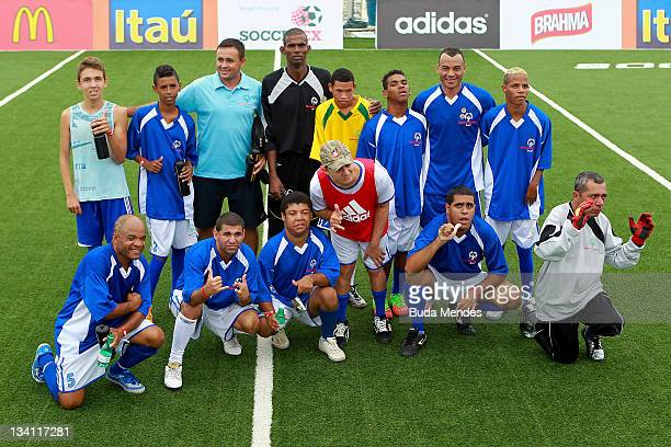 Former player Marcos Evangelista de Moraes, better known as Cafu attends a friendly match with members of Special Olympics during the first day of...