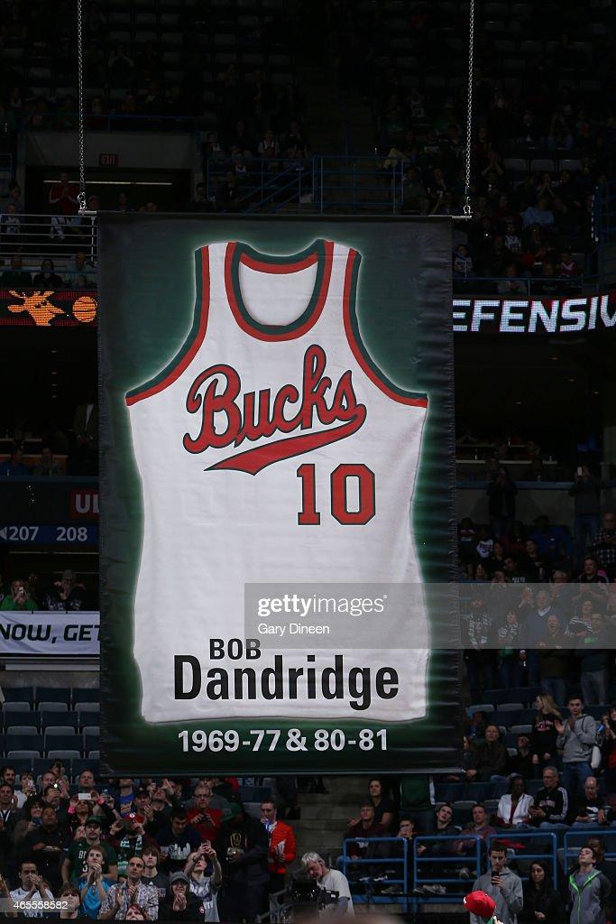 detailed look 82ea2 ce3c8 milwaukee bucks retired jersey