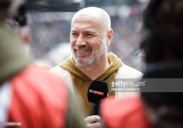 Former player Sergej Barbarez is seen prior to the Second Bundesliga match between FC St. Pauli and Hamburger SV at Millerntor Stadium on March 10,...