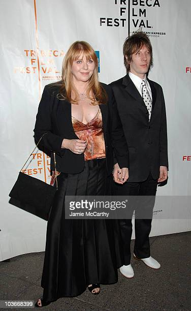 Former playmate Bebe Buell and musician Jim Wallerstein attends the premiere of SqueezeBox during the 2008 Tribeca Film Festival on April 25 2008 in...