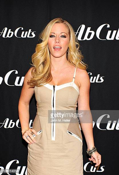 Former Playmate of the Year Kendra Wilkenson signs pictures and promotes Ab Cuts a body supplement by Revolution at GNC in the Westfield Mall on...