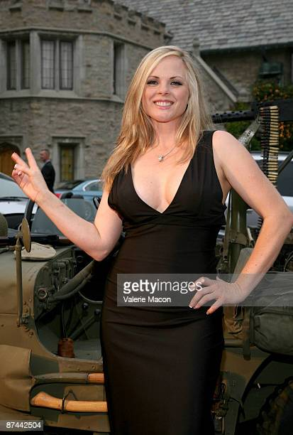 Former playmate Victoria Fuller arrives at Stars and Stripes An Evening of Sexy Patriotism at the Playboy Mansion on May 16 2009 in Los Angeles...
