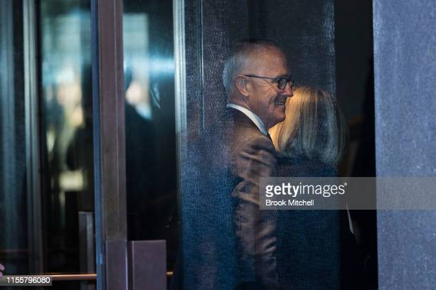 Former PM Malcolm Turnbull arrives at the Sydney Opera House on June 14 2019 in Sydney Australia Robert James Lee Hawke AC also known as Bob Hawke...