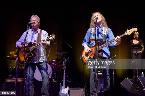 Former Poco members Richie Furay and Timothy B Schmit reunite and perform onstage during Timothy B Schmit's 'Leap of Faith' solo tour at Saban...