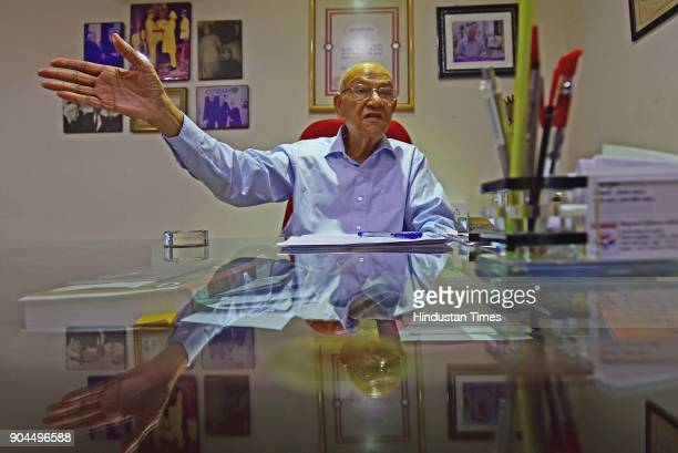 Former Police Commissioner Julio Ribeiro at his office at Mahalaxmi Chambers on January 12 2018 in Mumbai India Julio Ribeiro the 1953 batch officer...