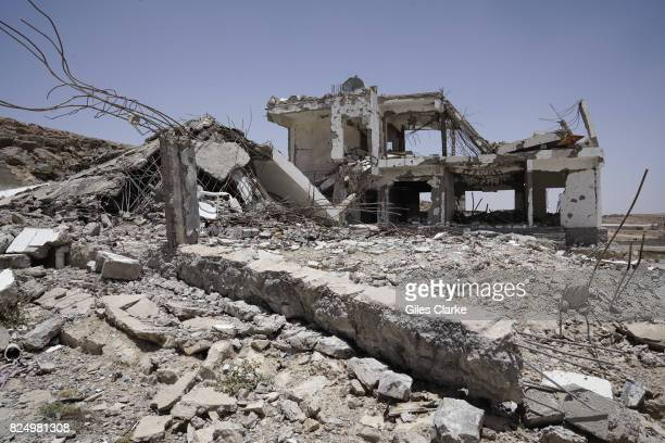 A ROAD TO SA'ADA SANA A former police station that was targeted during coalition air strike campaign against Houthi positions in Mid2105