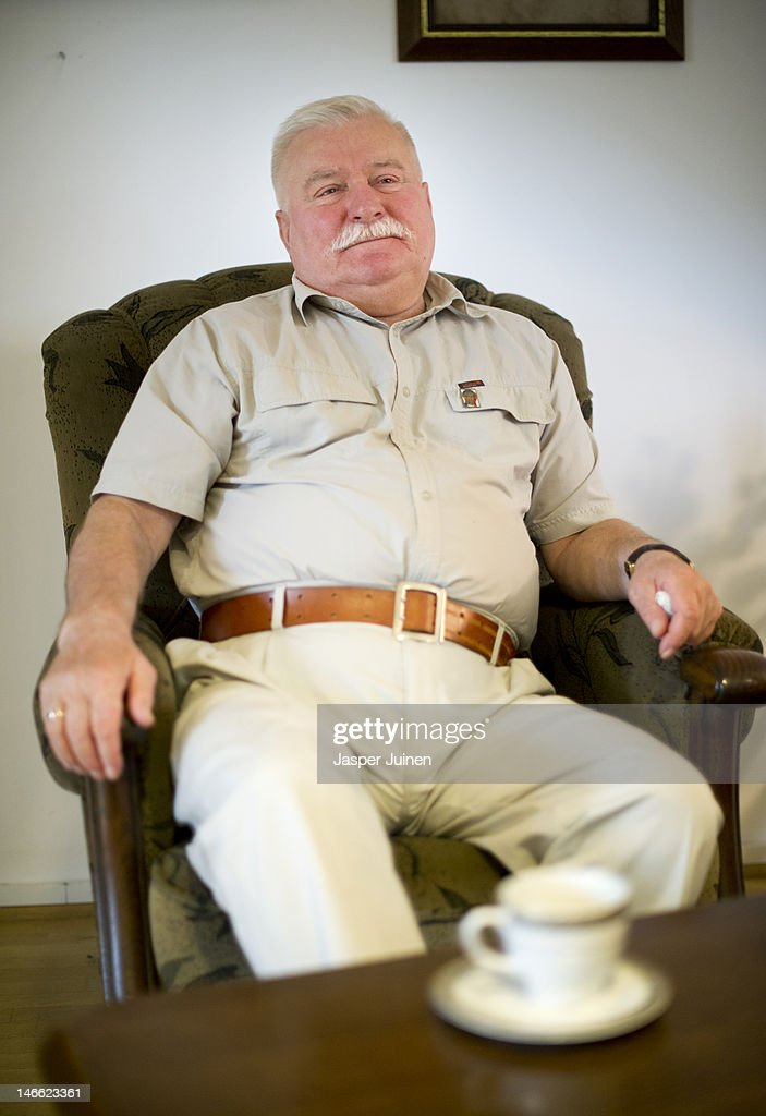 Former Polish President and Nobel Peace Laureate Lech Walesa Speaks To Journalists