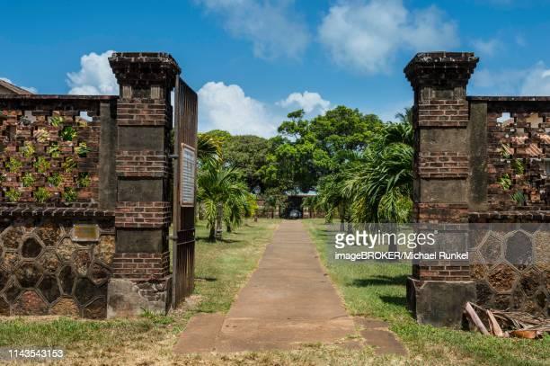 former political imprisonment on devils island, iles du salut, french guiana - guayana francesa fotografías e imágenes de stock